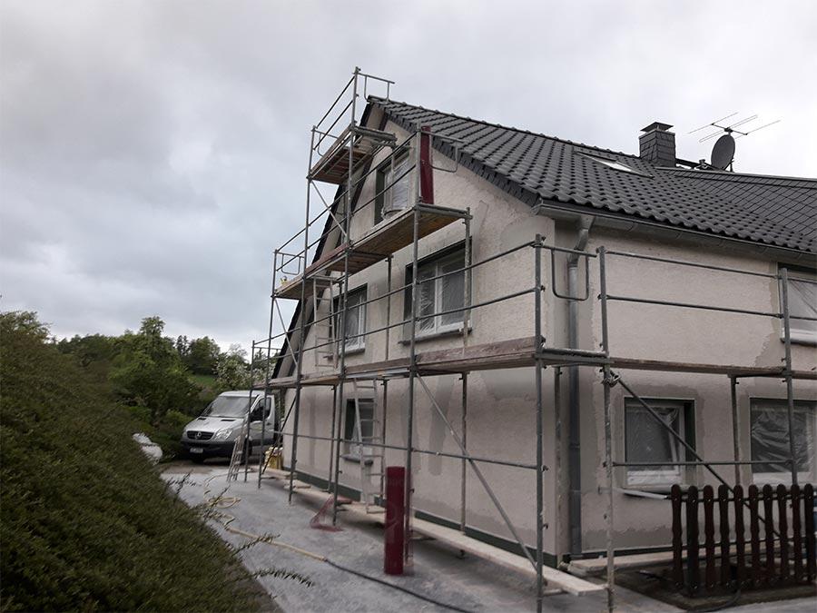 Renovierung eines Hauses – Fassadengestaltung